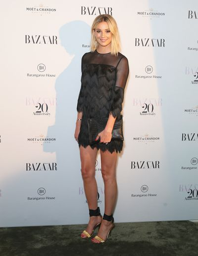 Model and designer Jasmine Yarbrough at the Harper's Bazaar 20th anniversary party