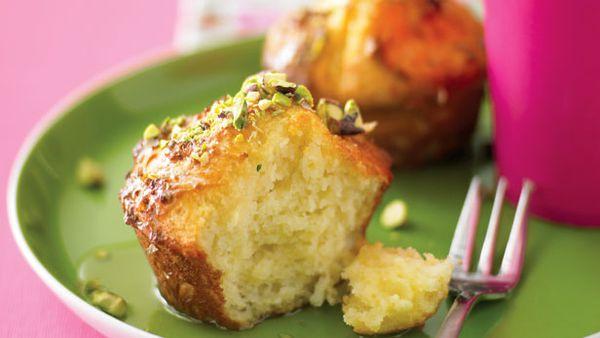 Warm ricotta muffins