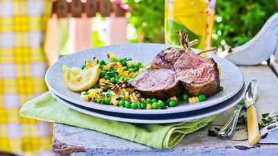Green 'n' gold Aussie Day lamb dish