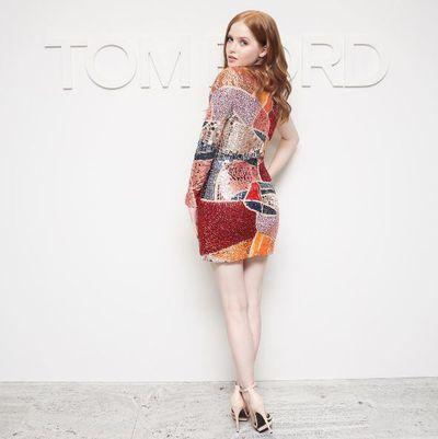 Ellie Bamber at Tom Ford