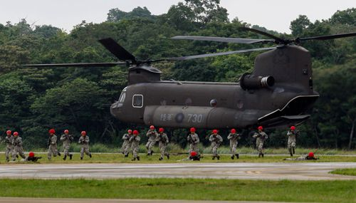 Taiwan held military exercises recently. The island which China claims  has built up a strong military supplied by the US.