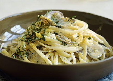 Linguine with clams, bottarga, garlic and chilli