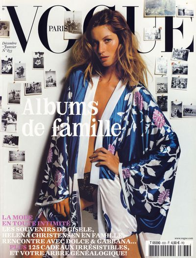 Vogue Paris December 2002 January 2003 by Mario Testino