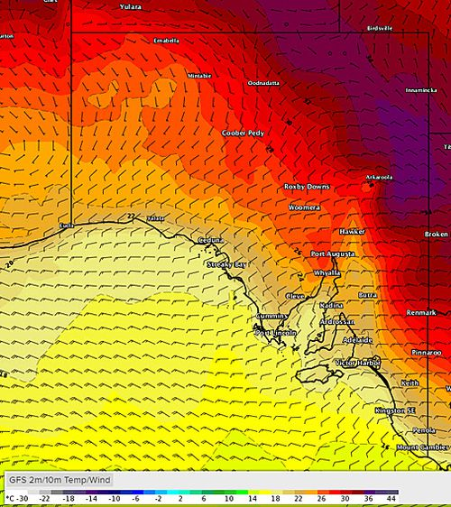 Temperatures across the state are set to reach as high as 38 in parts, putting further strain on the energy market as residents try to cool down. Picture: Weatherzone.