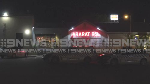 Two men are on the run after robbing an Ararat RSL.