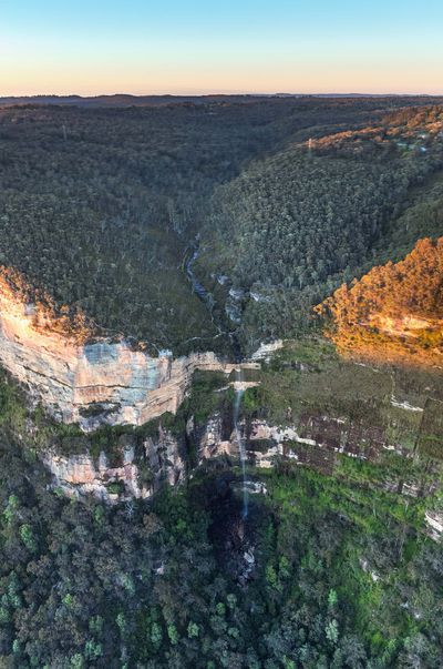 Govetts Leap Falls (also known as Bridal Veil Falls) in Blackheath, Blue Mountains National Park.