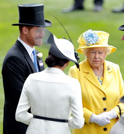 Prince Harry, Duke of Sussex, Meghan, Duchess of Sussex and Queen Elizabeth II