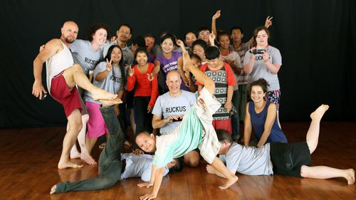 RUCKUS with Cambodian performance performance group, Epic Encounters. (RUCKUS)