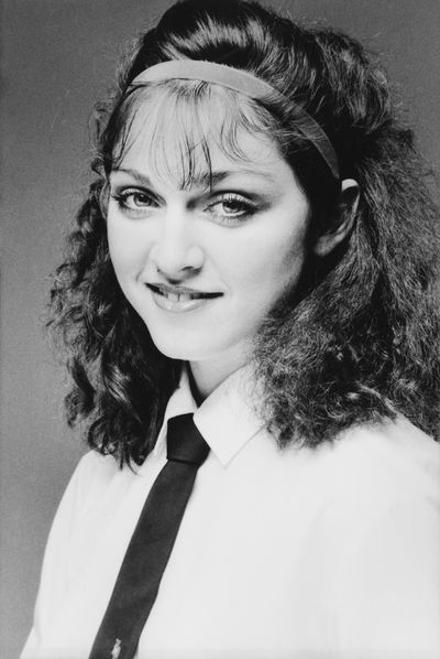 Madonna in a studio headshot taken in 1978 in New York City