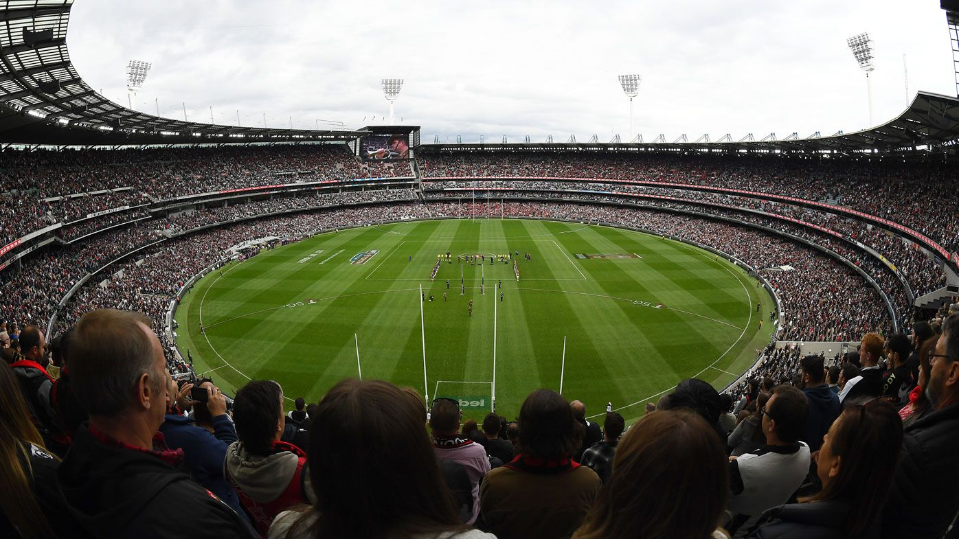 Essendon and Collingwood's ANZAC Day clash set a new record for COVID crowd numbers. (Getty)