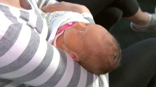 Ms Haugh's baby daughter, Mylah. (9NEWS)