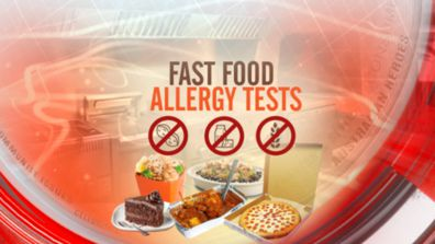 Fast food allergy tests
