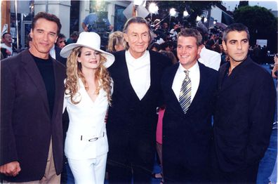Arnold Schwarzenagger, Alicia Silverstone, Joel Schumacher (director), Chris O'Donnell and George Clooney