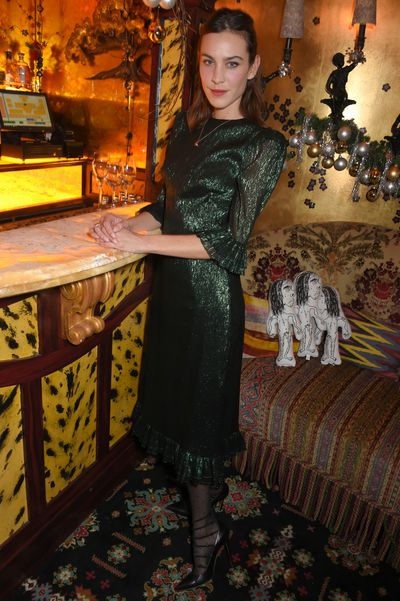 Alexa Chung at Nick Cave and The Bad Seeds x The Vampire's Wife X Matchesfashion.com party