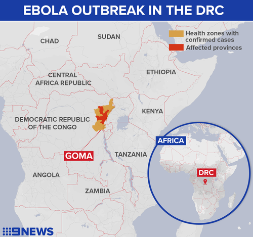Ebola has spread to the city of Goma in the DRC.
