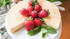 Healthy baked ricotta cheesecake