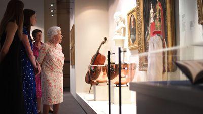 Queen Elizabeth visits Queen Victoria exhibition at Buckingham Palace, July 2019
