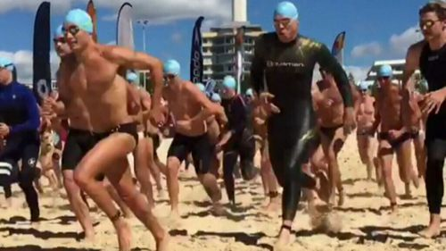 Up to 1300 took part in the Bondi to Bronte Ocean Swim (9NEWS)