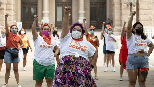 Protest against the six-week abortion ban at the Capitol in Austin, Texas.
