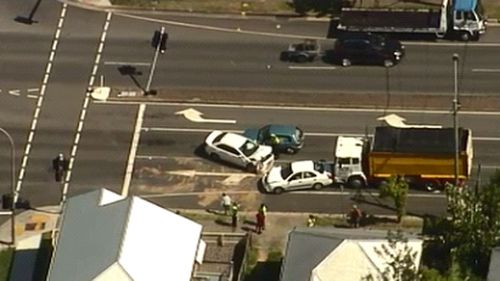Police have closed off the street as they investigate. (9NEWS)