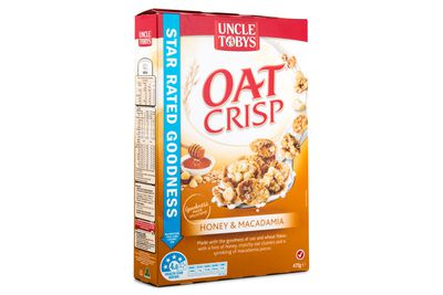 Uncle Tobys Oat Crisp Honey and Macadamia: Over 2 teaspoons of sugar