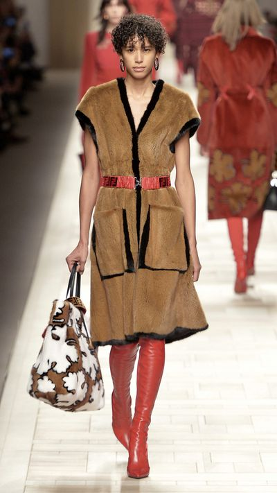 Fashion powerhouse Fendi embraced a head to toe fur look on the runway.