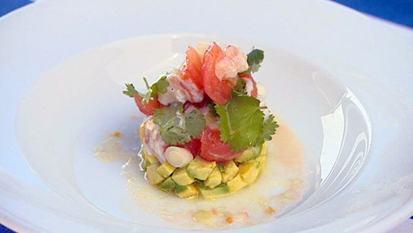 Moreton bay bug ceviche with avocado & lime