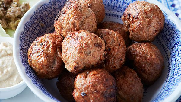 Middle Eastern lamb meatballs