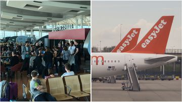 An Easyjet flight took off without its passengers on Friday leaving them to catch a bus instead.