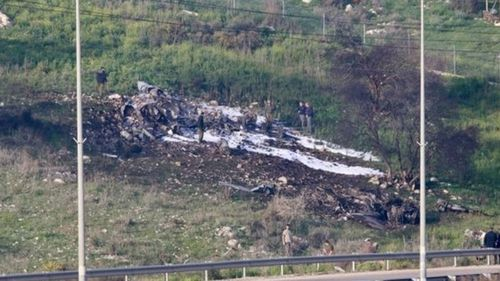 The Israeli F-16 jet crashed near a village in northern Israel