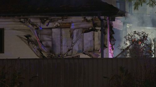 Part of the home was damaged. (9NEWS)