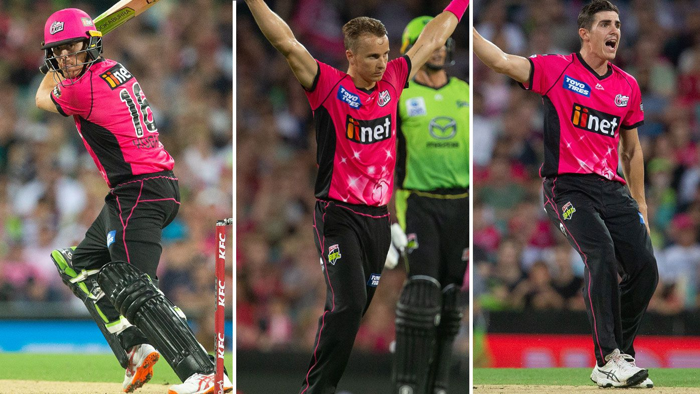 BBL: Daniel Hughes and James Vince guide Sydney Sixers to derby win over Thunder