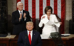 Nancy Pelosi tears up Donald Trump's State of the Union