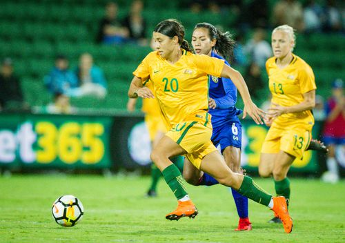 Sam Kerr is one of the key weapons for the Matildas. (AAP)