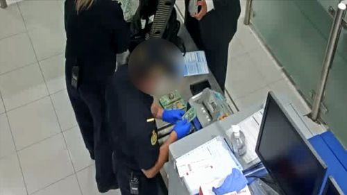 The man was referred to Australian Federal Police, who seized the cash pending proof of the money's origin.