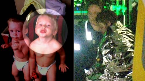 Jeremy (left), Blade (centre) and Nathan (right) were all taken to hospital with severe burns. (9NEWS)