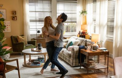 Harry Shum Jnr and Jessica Rothe in All My Life, directed by Marc Meyers.