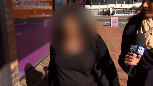 The woman walked free from Penrith Court today after being sentenced to a two year good behaviour bond. Picture: 9NEWS
