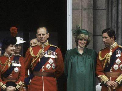 Trooping the Colour: pregnant Princess Diana