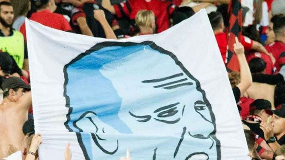 Wanderers fined $20,000 for banner
