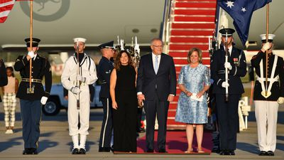 Jenny and Mr Morrison land in the US for state visit