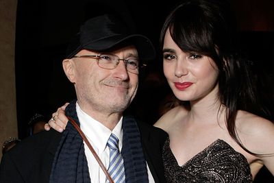 It could reasonably be assumed that any offspring of drumming-legend Phil Collins would be all too eager to follow their father into the music industry. But 24-year-old Lily Collins went against the grain when she began taking film roles from the age of two! The young actress now has a high-profile career that rivals Dad's, recently appearing in what has been labelled the next <i>Twilight</i> — <i>The Mortal Instruments</i> film franchise.