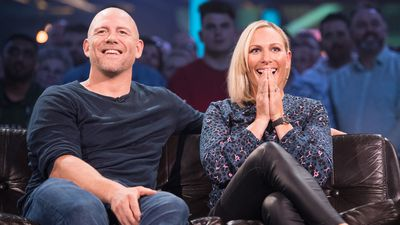 Zara and Mike Tindall on 'Top Gear', 2019