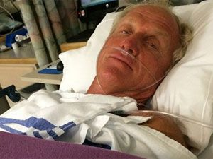 Greg Norman in hospital. (Instagram)