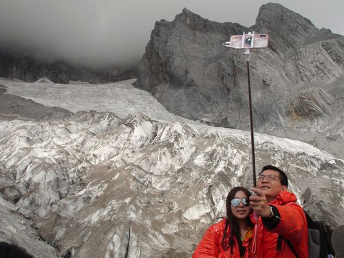 Millions of tourists flock to the Baishui No. 1 glacier every year, further diminishing it.