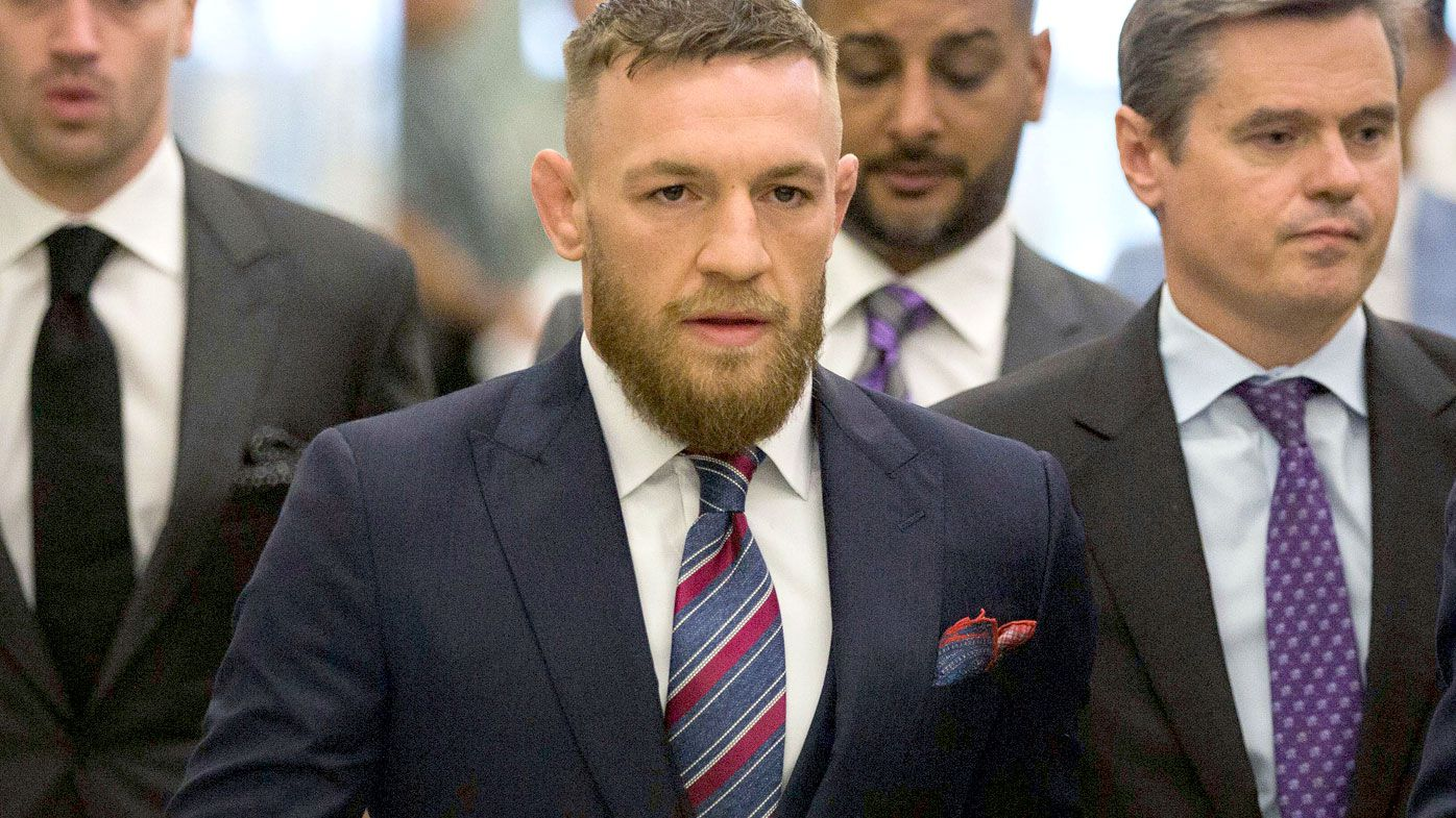 UFC's Conor McGregor pleads guilty after throwing hand truck at bus