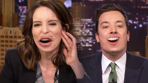 Tina Fey and Jimmy Fallon swap lips... and it's the freakiest thing you've ever seen!