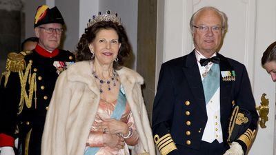 King Carl XVI Gustaf, Queen Silvia and Princess Madeleine of Sweden