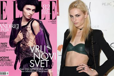"""After the Bosnian war, model Andrej Pejic and her family fled their homeland to move to Melbourne as political refugees. At 12, Pejic was scouted while working at McDonalds... becoming the first male model to walk womenswear shows for powerhouse designers such as Marc Jacobs and Jean Paul Gaultier. <br/><br/>In 2011, the transgender model was voted no. 98 in <I>FHM</I>'s Sexiest Women of the World... with the mag criticised for their hostile tone towards her. Three years later, Pejic underwent sex reassignment surgery, telling <i>People</I> magazine """"she's excited for the latest chapter of her life."""""""