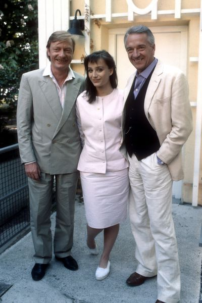 Best to ignore the shoes Kristin Scott-Thomas is wearing alongside Otto Sander and Jean-Pierre Cassell in 1987.